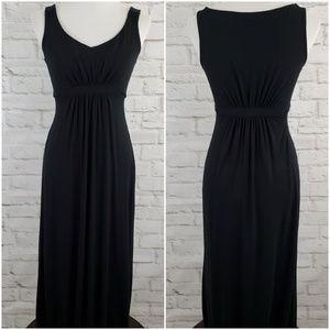 Boden Maxi Dress Womens 6P Petite Black Sleeveless